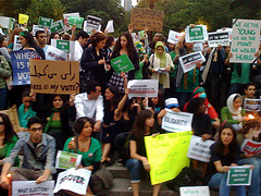 A Protest Aimed At Helping Iran Voters Held At Union Square