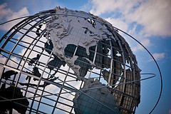 The Unisphere, Build In 1964, A Sculpture The Man Of Steel Would Approve Of