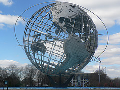 A Wonderful Shot Of The Unisphere In The Winter, It Was Built For The 1964/65 Worlds Fair