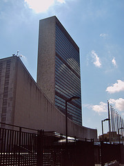 It Can Be Seen The  Amazing United Nations Headquarters Building