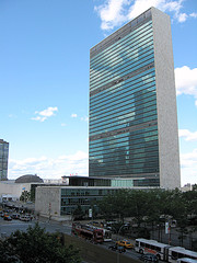 United Nations Headquarters, Home Of The General Assembly And Security Council, in Midtown Manhattan.