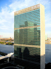 The United Nations Headquarters Overlooking The East River