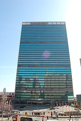 This Is The United Nations Secretariat Building, Tall And Beautiful