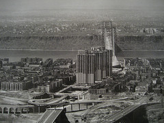 Black And White Photo Of Upper Manhattan In The Northern Region Of The New York City Borough.