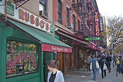 East Village Establishments Russo's And Veniero's On A Busy Day