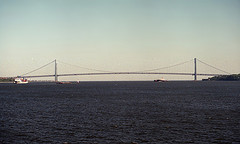 The Verrazano-narrows Bridge Was The Largest Suspension Bridge In The World When It Was Completed.