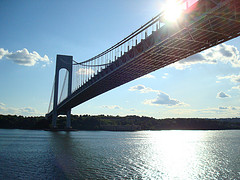 A Nice Undershot Of The Verrazano-narrows Bridge During The Day