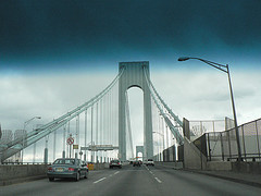 Another Cloudy Day Going To Work On The Verrazano-narrows Bridge