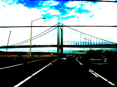 A Photoshop Adjusted Picture Of Cars Driving Under The Verrazano-narrows Bridge