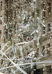 A Tickertape Parade In 1991 For Returning Servicemen From Operation Desert Storm.