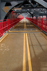 Pedestrian Walk On The Williamsburg Bridge Located In What Some Call Loho
