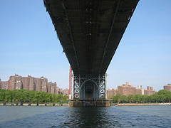 Wonderful Views Of Manhattan And The East River From Under The Williamsburg Bridge