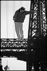 A Crazy Person Atop The Williamsburg Bridge.