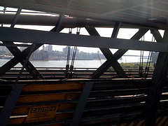 Nice Picture Inside The Williamsburg Bridge Looking Onto The East River