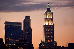 A Very Nice Sunrise Shot Of The Woolworth Building