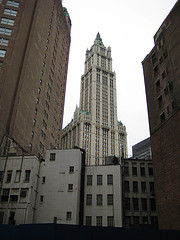 New York City's Historic Woolworth Building Was The World's Tallest Building When It Was Completed In 1913.