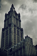 On A Dark, Cloudy Day, The Woolworth Building Stands Clear