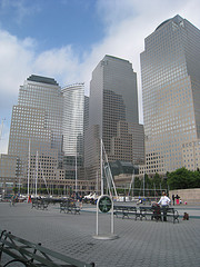A Photo Taken Of The World Financial Center From The Park.