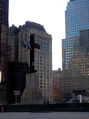 Cross Memorial On The Site Of The World Trade Center