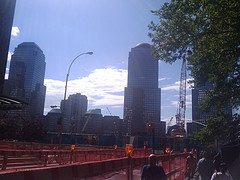 A Picture Of The Construction Site Where The World Trade Centers Used To Stand