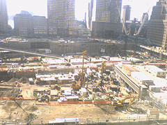 Construction Site Of World Trade Center Tower In The Year 2007