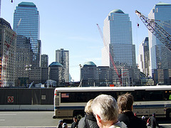 A View Of The World Trade Center From Across The Street.