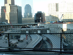 World Trade Center Site In Lower Manhattan From A Viewing Platform