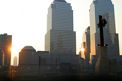 Sun Rising Over The World Trade Center Site.