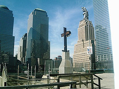 The Cross Like Shape Left From The Wreckage Of The World Trade Center Site