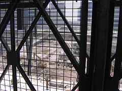 A Glimpse Of The World Trade Center Site Through A Neighboring Structure.