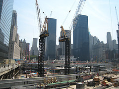 Construction Continues On As The World Trade Center Site.