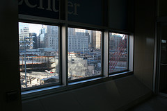 The World Trade Center Site Viewed From The Window Of A Neighboring Building In Lower Manhattan.