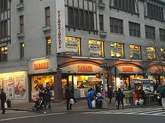 People Pass In The Street Outside Of Zabar's